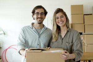 foto ondernemers met dozen